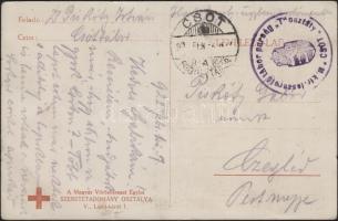 1922 Képeslap Csót fogolytáborból / Postcard from POW camp Csót