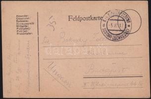 1917 Tábori lap Albániából EP SCUTARI (SCHKODRA)d