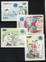 1992 Egészségügyi világnap sor Mi 1302-1305