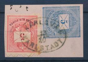 1874 5kr II 5kr díjjegyes kivágáson / Mi 17 on PS-cutting KARLOVAC KARLSTADT