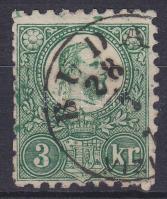 1871 Réznyomat 3kr, számos festékfolt a teljes bélyegen / Mi 9, several paint spots