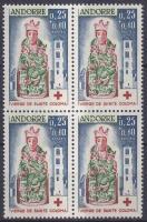 Red Cross block of four, Vöröskereszt négyestömb, Rotes Kreuz; Viererblock