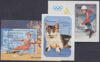 1992-1995 Olimpia Mi blokk 141 + 153 + Macskák Mi blokk 154
