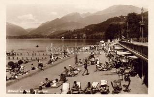 Millstatt am See, beach, bathing people, Millstatt am See, strandürdő, fürdőzők, Millstatt am See, Strandbad, Badegästen