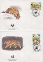 1984 WWF Tigris sor Mi 706-709 4 FDC-n