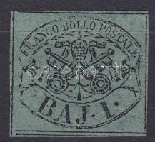 1852 Egyházi állam Mi 2a (kis papírelvékonyodás / thin paper)