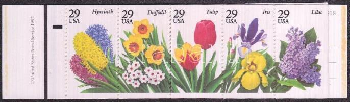 Flowers stamp booklet (Mi 2359-2363), Virágok bélyegfüzet (Mi 2359-2363), Gartenblumen des Frühjahrs Markenheftchen (Mi 2359-2363)