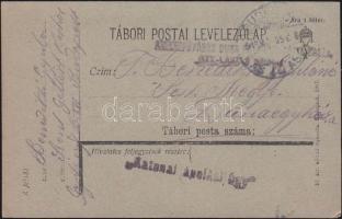 1918 Tábori lap a budapesti Szent László kórházból