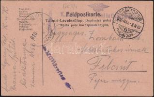 1916 Képeslap a csáktornyai tartalékkórházból