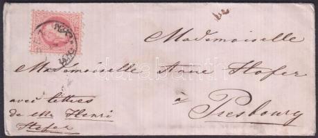1869 5kr levélen CSUZ - POZSONY