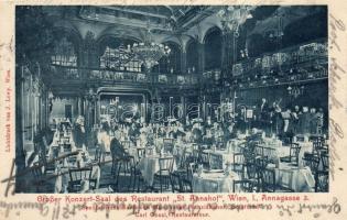 Vienna, Wien I. St. Annahof Restaurant, large concert hall