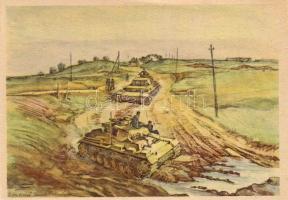 'Anrollende panzer' / panzer tank s: Hensel, tank