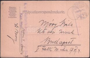 1916 Tábori lap K.u.k. Reitende Artilleriedivision No. 7 + TP 62