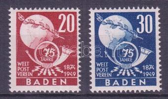 Baden 1949 75 éves az UPU Mi 56-57