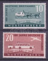Württemberg 1949 100 éves a német bélyeg Mi 49-50