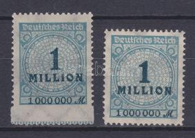 1923 Mi 314 látványos elfogazással / with strongly shifted perforation