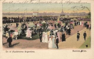 Buenos Aires, En el Hipodromo Argentino / horse race