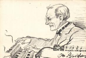 Zongoraművész s: Oscar Lazar Pianist s: Oscar Lazar