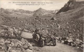 Col de la Cayolle, Sanguinaires, automobile