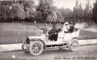 """Tombola de la """"Décennale"""", Double Phaéton De Dion-Bouton, automobile"""