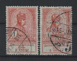 1913 Árvíz 1K, törött felső keretvonal