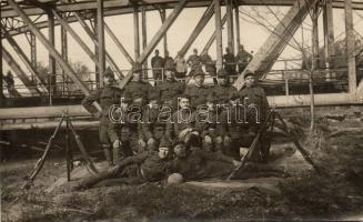 Military WWI K.u.K. Hungarian soldiers group photo, Magyar katonai csoportkép, photo