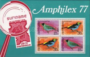 Amphilex Stamp Exhibition, bird block, Amphilex bélyegkiállítás madár blokk