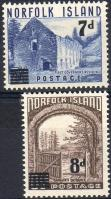 1958 Tájak felülnyomva Mi 23-24