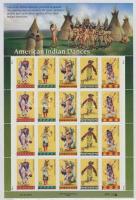1996 Indián táncok kisív Mi 2730-2734