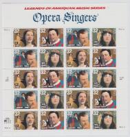 1997 Amerikai zenetörténet, operaénekesek, kisív Mi 2879-2882