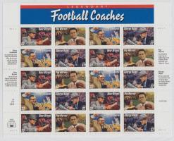1997 Amerikai futball, edzők, kisív Mi 2853-2856