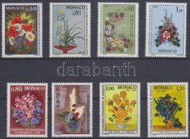1975 Virágcsokrok 8 klf bélyeg, teljes sorokkal Mi 1189-1190, 1248-1249, 1290-1291, 1345-1346