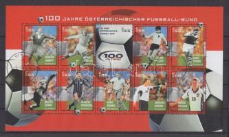 2004 100 éves a Labdarúgó szövetség, focisták kisív Mi 2460-2469