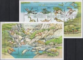 Ősállatok teljes ív sor, Prehistoric animals sheet set, Prähistorische Tiere Zd-bogensatz