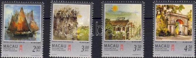1997. Makaoi tájakat ábrázoló festmények Mi.899-902