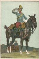 WWI K.u.K. Cavalryman litho s: Ludwig Koch, Első világháborús lovaskatona litho s: Ludwig Koch