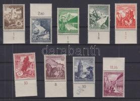 1938 Alpesi virágok ívszéli sor Mi 675-683