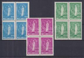 1948 Fatimai Szent Mária négyestömbök Mi 373-375
