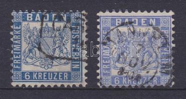 1862 Mi 19a + b