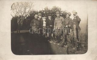 Military, WWI K.u.K. soldiers group photo, Katonaság, I. világháború, K.u.K katonák csoportkép