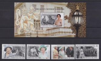 1999 Erzsébet anyakirálynő 99. születésnapja sor Mi 704-707 + blokk 32