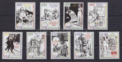 2001 Karikatúrák sor Mi 743-751