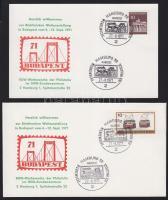 1971 Címezetlen alkalmi boríték és levelezőlap a Budapest´71 bélyegkiállítás hamburgi előzeteséről HUNGARIKA
