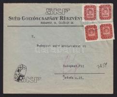 1946 (19. díjszabás) Túlsúlyos helyi levél 4400 milpengő bérmentesítéssel (túlbérmentesítve)