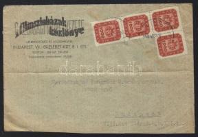 1946 (19. díjszabás) Túlsúlyos helyi levél 4000 milpengő bérmentesítéssel