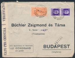 1942 Cenzúrás expressz levél Budapestre / Censored express cover to Hungary
