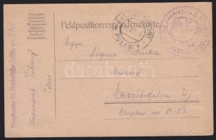 1916 Tábori lap / Field postcard E.P. PULAWY b