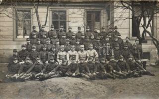 Military WWI Hungarian soldiers group photo, Katonaság I. világháború katonák csoport fotó