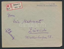 1936 Ajánlott légi levél Svájcba / Registered airmail cover to Switzerland