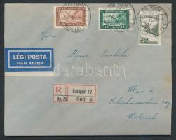 1930 Ajánlott légi levél Bécsbe / Registered airmail cover to Vienna